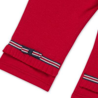 Imagem 4 do produto Legging para bebe em viscomfort Laço Vermelha - Baby Classic - 20511628 LEGGING C/ LAÇO VISCOMFORT BUTTERFLY-3