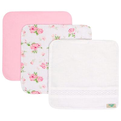 Kit com 3 fraldinhas de boca para bebe Josephine - Laura Ashley Baby