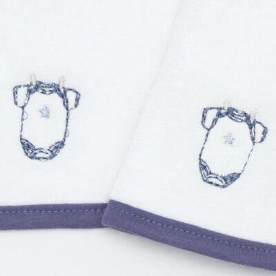 Imagem 2 do produto Kit com 2 fraldas de boca atoalhadas Clothes Boy - Classic for Baby