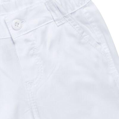 Imagem 5 do produto Camisa & Gravata c/ Calça para bebe em tricoline Branco - Sylvaz - SZ745 CONJUNTO BATIZADO C/ GRAVATA BRANCO-M