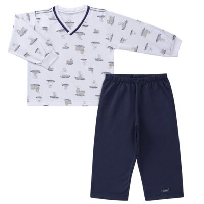 Imagem 1 do produto Pijama longo em moletinho Wally - Dedeka - DDK16638/E112 Pijama Moletinho Morsa-2