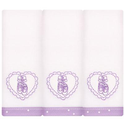 Imagem 1 do produto Kit com 3 fraldinhas de boca em malha Ballet - Classic for Baby