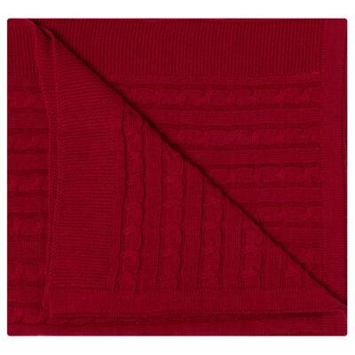 Imagem 2 do produto Manta em tricot Vermelho - Baby Classic
