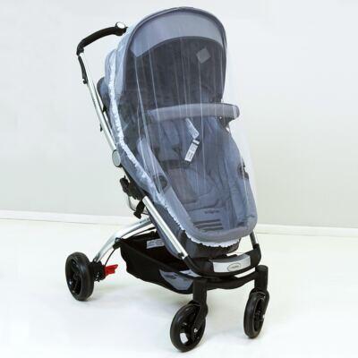 Imagem 1 do produto Mosquiteiro para carrinho com elástico Branco - Biramar Baby