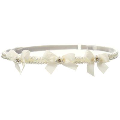 Imagem 1 do produto Headband Lacinhos & Pérolas Marfim - Roana