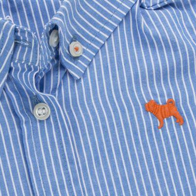 Imagem 3 do produto Camisa em tricoline Azul - Charpey