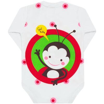 Imagem 3 do produto Body longo para bebe em malha Stica Stica Joaninha - Get Baby - 121170 Body longo em malha Stica Stica Joaninha-G