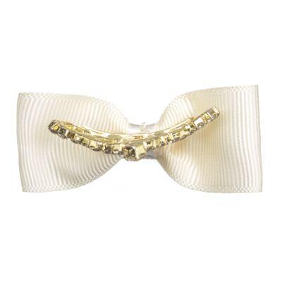 Imagem 2 do produto Presilha laço Coroa & Strass Marfim - Roana