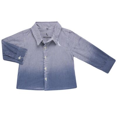 Imagem 1 do produto Camisa para bebe em tricoline Degradê Marinho - Reserva Mini - RM23166 CAMISA BB DF DEGRADE-P