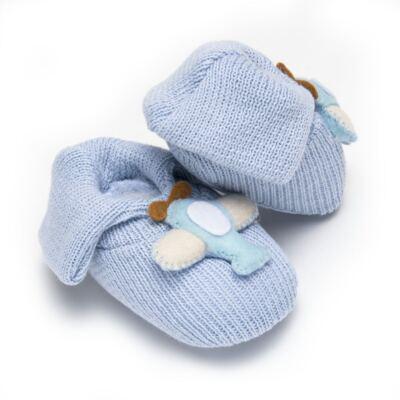 Imagem 2 do produto Sapatinho em tricot Aviãozinho Azul - Roana