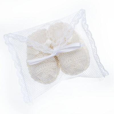 Imagem 4 do produto Sapatinho para bebe em tricot Marfim - Roana