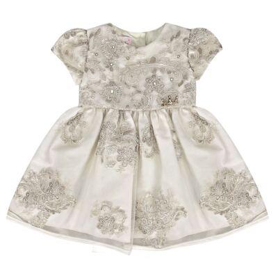 Imagem 1 do produto Vestido para bebe em renda guipir Caroline - Miss Sweet - MS1056 VESTIDO GUIPPER AVEIA-M