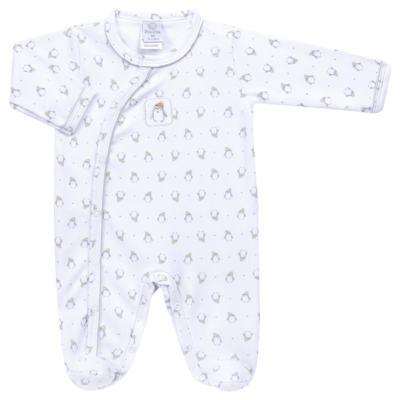 Imagem 1 do produto Macacão longo para bebe em algodão egípcio Penguin - Piu-Piu - PIU912025.001 MACACÃO COMP. PINGUIM -P