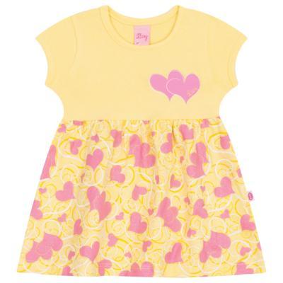 Imagem 1 do produto Vestido para bebê Cute Hearts Amarelo - Livy - LV4901.AM VESTIDO HEART COTTON AMARELO-P