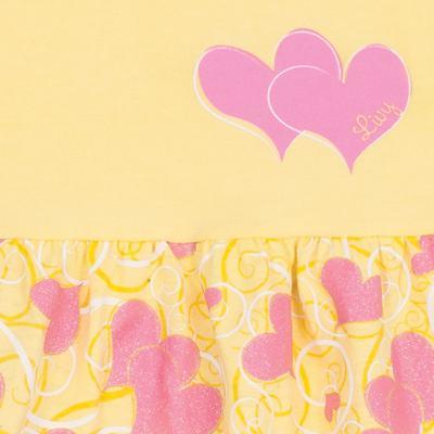 Imagem 2 do produto Vestido para bebê Cute Hearts Amarelo - Livy - LV4901.AM VESTIDO HEART COTTON AMARELO-P