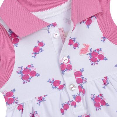 Imagem 3 do produto Vestido Polo com Calcinha para bebe em piquet Mimme - Missfloor - 18BC0001.505 BATA POLO REGATA C/ CALCINHA - PIQUET-3-6