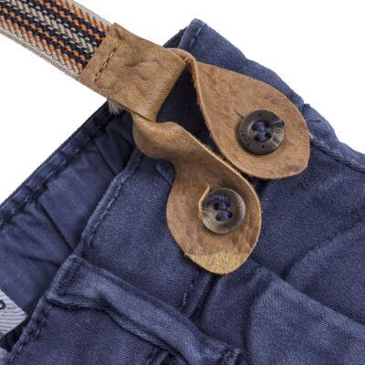 Imagem 2 do produto Calça & Suspensório jeans masculina para bebê Denim - Toffee & Co. - 4253 CALÇA BABY SAR SUSP MASC SARJA AZUL ESCURO-2