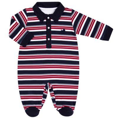 Imagem 1 do produto Macacão Polo para bebe em algodão egípcio Norfolk - Grow Up - 02010425.0017 MACACAO DOG VERMELHO -P