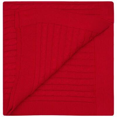 Imagem 2 do produto Manta em tricot Vermelha - Baby Classic