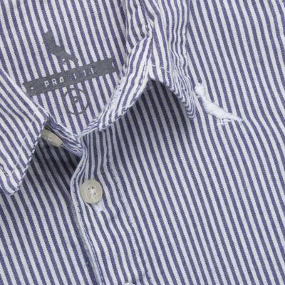 Imagem 2 do produto Camisa para bebe em tricoline Degradê Marinho - Reserva Mini - RM23166 CAMISA BB DF DEGRADE-1