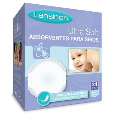 Imagem 1 do produto Absorventes Descartáveis para Seios UltraSoft (24 un) - Lansinoh