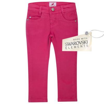 Imagem 1 do produto Calça Skinny em sarja Swarovski Pink - Missfloor - 1730M1757 CALÇA SKINNY PINK SARJA SARJA-3