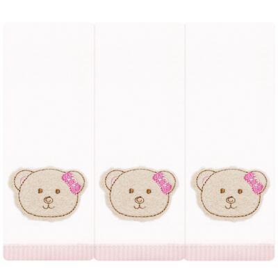 Imagem 1 do produto Kit com 3 fraldinhas de boca em malha Kedy Bear - Classic for Baby