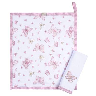 Imagem 5 do produto Kit com 3 fraldinhas de boca para bebe em malha Borboletas - Anjos Baby