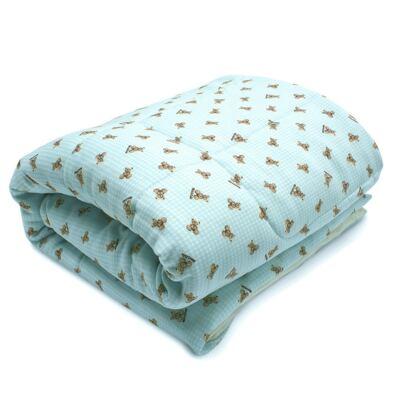 Imagem 1 do produto Edredom para berço em algodão egípcio c/ jato de cerâmica e filtro solar fps 50 Teddy Sam - Classic for Baby