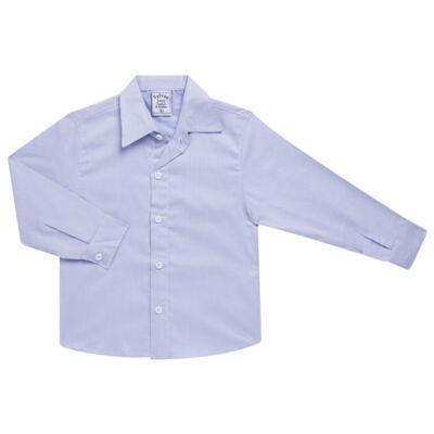 Imagem 1 do produto Camisa para bebe em tricoline Listras Azul - Sylvaz - SZ767 CAMISA LISTRAS ML AZUL-1