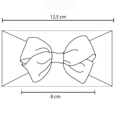 Imagem 2 do produto Faixa meia Maxi Laço gorgurão Poá Preto/Pink - Roana