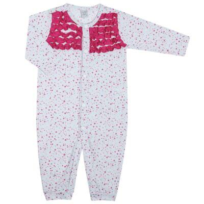 Imagem 1 do produto Macacão longo frufru para bebe em malha Little Cute - Vicky Lipe - 20761362 MACACÃO ML MALHA ELEFANTINHO-M