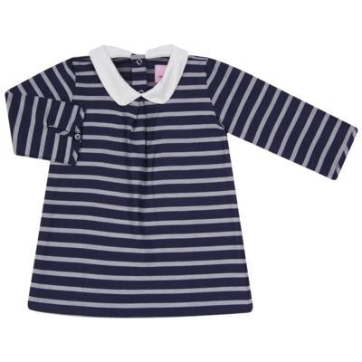 Imagem 1 do produto Vestido c/ golinha em tricoline College - Missfloor - 12CG0001.365 VESTIDO COM GOLA TRICOLINE MARINHO-1