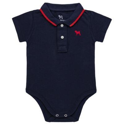 Imagem 1 do produto Body Polo para bebe em piquet Marinho - Charpey - CY21150.552 BODY POLO MASC PIQUE MC NOITE-G