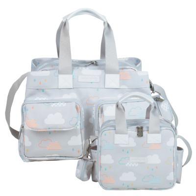 Imagem 1 do produto Bolsa para bebe Toulouse + Bolsa térmica organizadora Nuvem - Masterbag