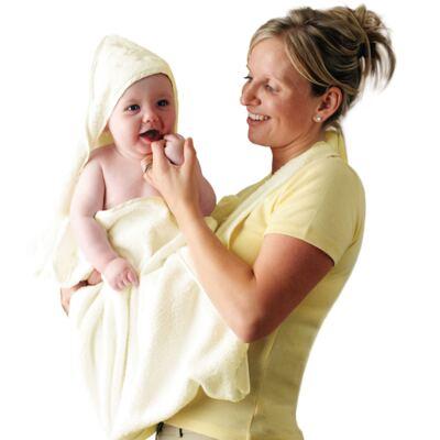 Imagem 2 do produto Toalha Mamãe Bebê com capuz Creme- Clevamama