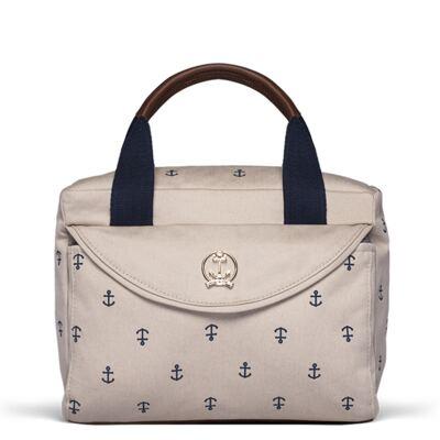 Imagem 1 do produto Bolsa Térmica para bebe Queenstown em sarja Navy Caqui -  Classic for Baby Bags