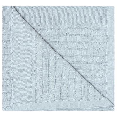 Imagem 2 do produto Manta em tricot Azul - Baby Classic