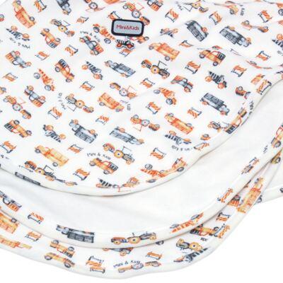 Imagem 2 do produto Manta para bebe em algodão egípcio c/ jato de cerâmica e filtro solar fps 50 Truck Adventures - Mini & Kids