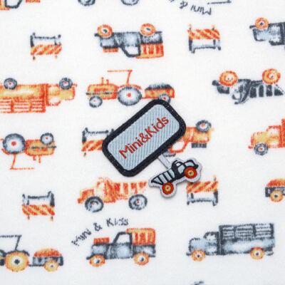 Imagem 3 do produto Manta para bebe em algodão egípcio c/ jato de cerâmica e filtro solar fps 50 Truck Adventures - Mini & Kids