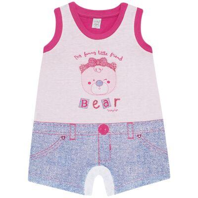 Imagem 1 do produto Macacão regata para bebe em malha Grizzy Bear - Vicky Lipe - 882572 MACAQUINHO REGATA MALHA URSA-P