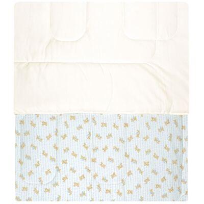 Imagem 2 do produto Edredom para berço em algodão egípcio c/ jato de cerâmica e filtro solar fps 50 Maternity Blue Bear - Classic for Baby