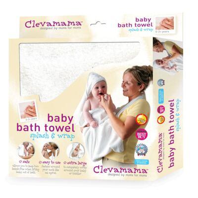 Imagem 1 do produto Toalha Mamãe Bebê com capuz Branca- Clevamama