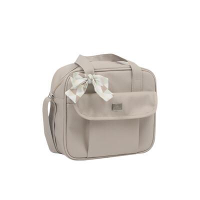 Imagem 4 do produto Mala maternidade + Bolsa + Frasqueira térmica + Mochila + Porta Mamadeira Laço Marfim - Hey Baby