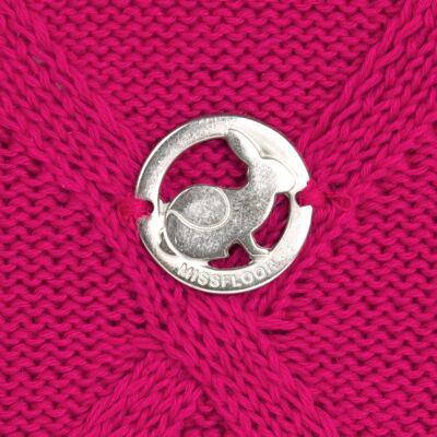 Imagem 3 do produto Casaco com capuz em tricot trançado Pink - Missfloor - 76TT0001.376 SWEATER COM TRANÇAS - TRICOT-3