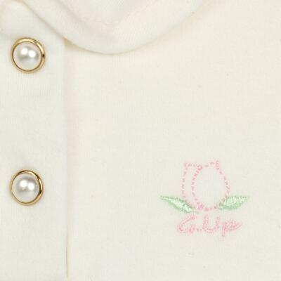 Imagem 3 do produto Body Polo com Shorts para bebe em suedine Florale - Grow Up - 04080008.0004 CONJUNTO FLOWERY CREME-M