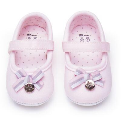 Imagem 1 do produto Sapatilha laço para bebe em suedine Rosa bebê - Mini & Kids - 510.008.2801999 SAPATILHA VELCRO 0 MK-16