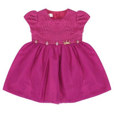 Imagem 1 do produto Vestido para bebe em renda & pedraria Catherine - Miss Sweet - MS1059 VESTIDO PEDRAS PINK-G