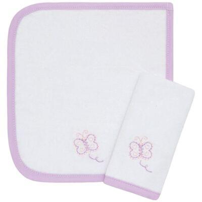 Imagem 1 do produto Kit com 2 fraldas de boca atoalhadas Borboletinha - Classic for Baby