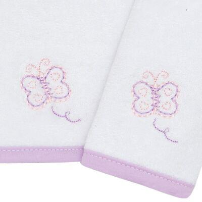 Imagem 2 do produto Kit com 2 fraldas de boca atoalhadas Borboletinha - Classic for Baby